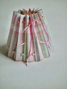 Romantic Small Fabric Covered, Lampshade, Table Lamp, Light Check Pink