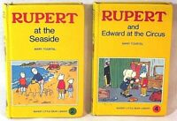 Rupert and Edward at the Circus + Rupert at the Seaside Books FREE UK POST