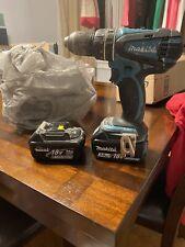 "Makita Lxph01Z 18V 1/2"" Hammer Driver Drill Lxph01 Body Only Plus 2 Batteries."