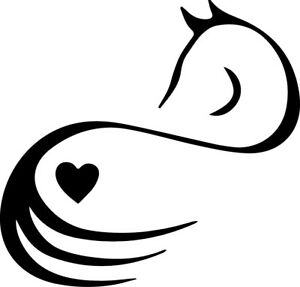 Horse Lover Equine Heart Silhouette Love Decor Decal Car Sticker FreeUS Shipping