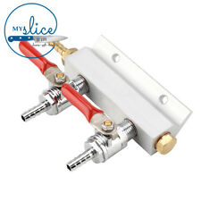 Gas Line Manifold Splitter 2 Output With Check Valve  - Keg, Kegerator