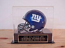 Football Mini Helmet Display Case With A Joe Flacco Ravens Engraved Nameplate