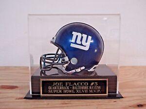 Joe Flacco Football Mini Helmet Display Case W/ A Ravens Engraved Nameplate