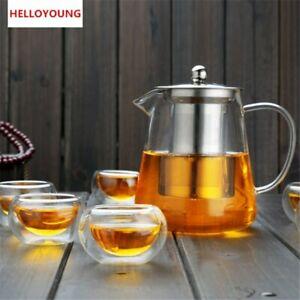 Teapot Heat Resistant  Kettle Tea Set  Glass Tea Pot  Stainless Steel Strainer