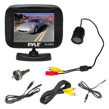Pyle PLCM35R  3.5'' TFT LCD Monitor W/ Night Vision Rear View Backup Camera Kit