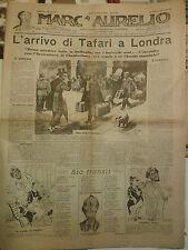 RIVISTA MARC' AURELIO DI ROMA GIU. '36 TAFARI A LONDRA HAILE' SELLASSIE' IK-5-10