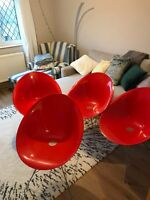 Kartell Eros Chairs Red designer set of 4 or sold separately