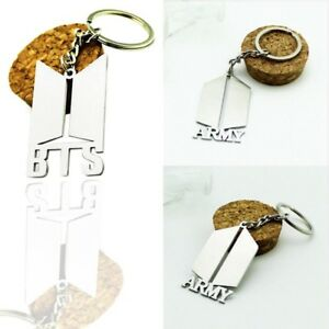 Fashion Kpop BTS Bangtan Boys ARMY Metal Pendant Keychain Keyring Gift Ku