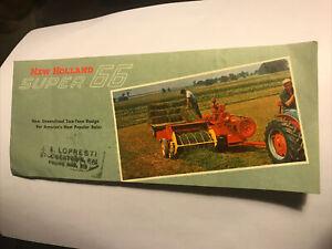 New Holland Super 66 Baler Brochure From Stockertown, PA Farm Estate