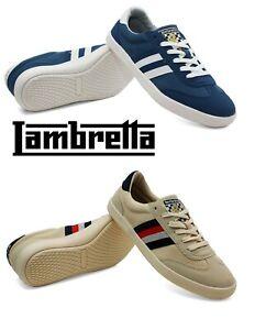 Men's Lambretta Vulcan Lace up Canvas Memory Foam Smart Sneakers Trainers Shoe