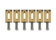 Gotoh S21 Narrow Guitar Bridge Saddles • 10.5mm • Steel • Gold