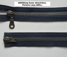 Opti Zweiwege Reißverschluss Dekorzacken 80 cm dunkelblau