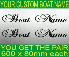 PERSONALISED CUSTOM BOAT JETSKI KAYAK NAME STICKERS Marine Vinyl Lettering 600mm