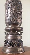 Large Old Chinese Japanese Brass Incense Burner Vase