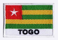 Ecusson patch brodé patche à coudre drapeau pays TOGO 70 x 45 mm pays monde