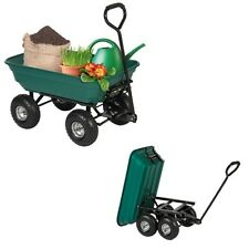Garden Wagon Cart 650lb Carrier Dump Wheel Barrow Yard Trailer Heavy Duty Green