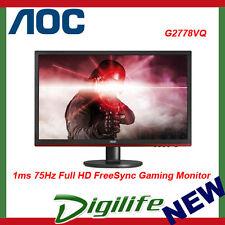 "AOC 27"" G2778VQ 1ms 75Hz Full HD FreeSync Gaming Monitor HDMI/DP/VGA,Speaker"