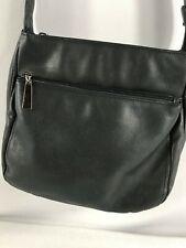 BLACK GENUINE LEATHER SMALL SHOULDER BAG  across body Handbag Womens Ladies