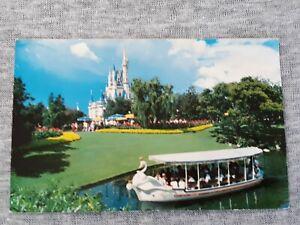 Vintage Postcard Walt Disney World Swan Boats