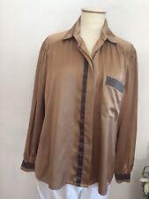 Louis Feraud Vintage Design Tunika Bluse Shirt Satin Gr. 38 zu Jeans Hose Rock