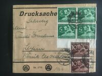 1940 Freiburg Germany Wrapper cover to Leipzig SC # P1-2
