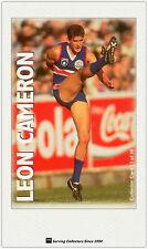 1996 Optus Vision AFL Card #13 Leon Cameron (Bulldogs)