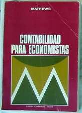 CONTABILIDAD PARA ECONOMISTAS - RUSSELL MATHEWS - AGUILAR 1974 - VER INDICE