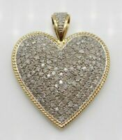 2Ct Round Cut Diamond 14k Yellow Gold Over Attractive Heart Shape Pendant