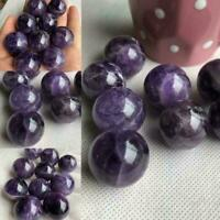 Natural Fantasy Amethyst Quartz Craft Sphere Crystal stone Healing Ball Flu C8P5
