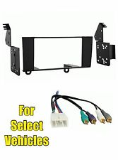 Double Din Radio Kit Combo for some 1995 1996 1997 1998-2000 Lexus LS400 w/Amp