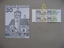 GERMANY BRD, booklet No 22 MNH with error II + VIII