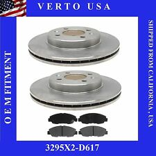 Set Of front Brake Rotors & Ceramic Pads  Honda Civic Sedan EX & Acura Integra