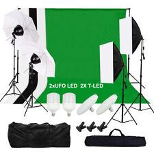 Hintergrundsystem Fotostudio Studioleuchte LED Lampe Softbox Set Studioschirm