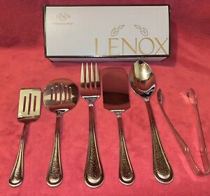 LENOX barlowe™ 6-piece entertainment set 18/10 BRAND NEW- Sold Out
