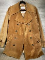 Vintage 70s Mens Cresco By Puritan Brown Suede Leather Jacket Size 40