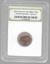 Rare Old Ancient Antique CONSTANTINE GREAT Roman Empire Era War Coin LOT:US-P29