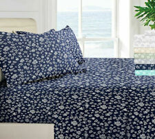 Floral Bed Sheets 4 Piece Egyptian Comfort 1800 Series Deep Pocket Bed Sheet Set