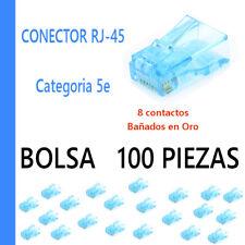 CONECTOR MACHO RJ45 - bolsa de 100 unidades CATEGORIA 5e