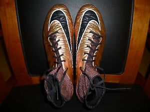 Men's Nike Hypervenom Phantom II FG Soccer Cleats 747213 903 Red Bronze Size 13