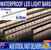 4X 12V Waterproof Warm White 5630 Led Strip Lights Bars For Car Caravan Camping