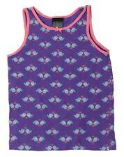 H&M Girls Size 4-6Y Purple Pink Flower Pattern Tank Top