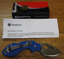 Spyderco Sprint Run C110GPBL Lava Blue VG-10 G-10 PlainEdge Pocket Knife JAPAN