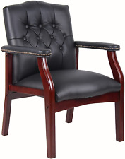 Boss Office Products Ivy League Executive Guest Chair Black