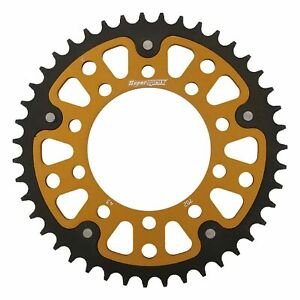 New - Gold Stealth sprocket, 43T, Chain Size 525; PPS-7745