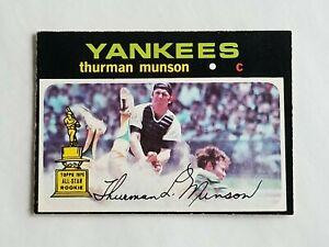 1971 O-PEE-CHEE BASEBALL #5 THURMAN MUNSON NEW YORK YANKEES MLB BASEBALL CARD