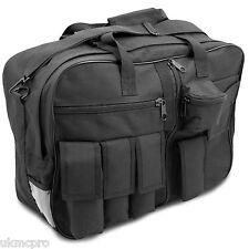 Mens Small Tactical Messenger Shoulder EDC Security Police Kit Bag Case Black