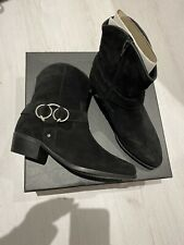 Brand New In Box Zign Nolia Black Suede Ring Ankle Western Boots Size 4