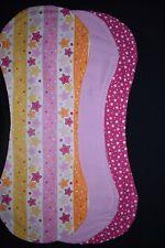 Baby Girl Burp Blankets, pack of 3 - handmade