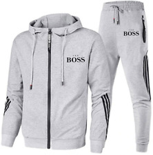Boss1 Herren Trainingsanzug Hoodie + Trainingshose Freizeit Jogging Sport Anzug/