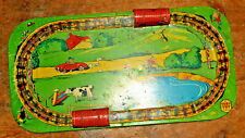 Toby Toys ( Louis Marx & Co)1930's vintage pressed metal  train set layout RARE!